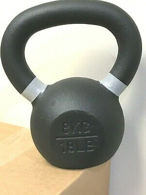 Strencor EKG KETTLEBELL Cast Iron Black COLOR-CODED 8 KG (18 lbs)