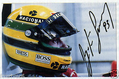 AYRTON SENNA Signed Photograph FORMULA 1 One Star former World Champion preprint