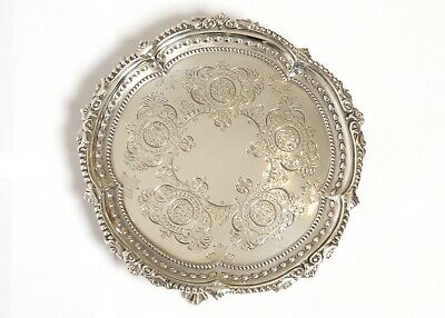 vintage ENGLISH SOLID ANTIQUE VICTORIAN STERLING SILVER DISH