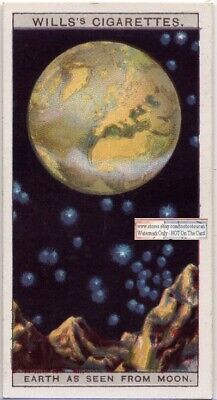 Earth As Seen From The Moon Solar System Astronomy  c90 Y/O Trade Ad Card