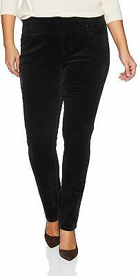 Jag Jeans Womens Black Size 14W Plus Pull On Straight Leg Pants Stretch $84 #955