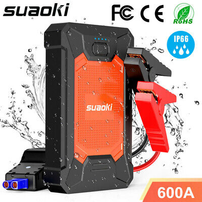 SUAOKI 600A 12V 8600mAh Car Jump Starter Power Bank Battery Charger Booster 31Wh