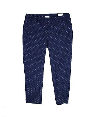 Charter Club Women's Blue Size 24W Plus Printed Pull On Pants Stretch $79 #438