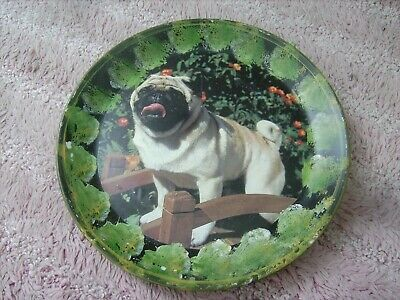 Pug  Dog     On A Decoupage  Plate