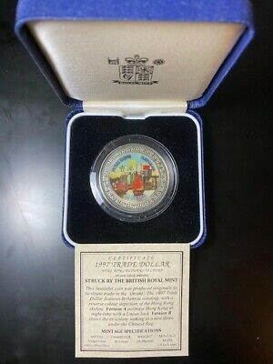 1997 Trade Dollar Coin Return To China With Box Coa Type B Proof
