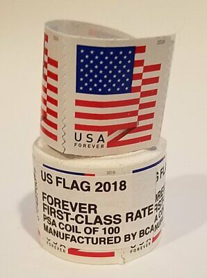 USPS Forever Stamps Flag Roll of 100 x 10; Total of 1000 Stamps