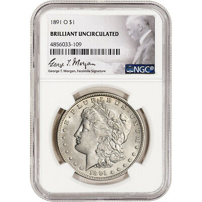 1891-O US Morgan Silver Dollar $1 - NGC Brilliant Uncirculated
