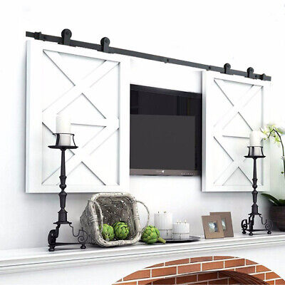 Super Mini Sliding Barn Door Hardware Wood Door Closet Cabinet Track Kit T Style