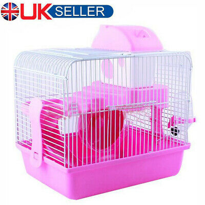 Hamster Cage Small Pet Running Ladder Plastic 2 Tier Castle Exercise Play House