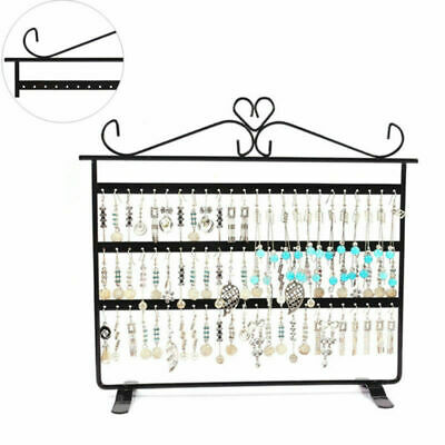 3 Layer 72 Hole Earring Display Stand Holder Jewelry Necklace Rack Organizer VIC