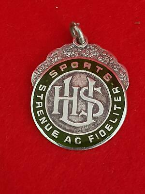 Collectable 1950s University High School (Melb) Sterling Silver Basketball Medal