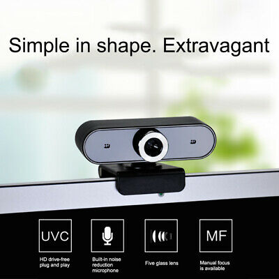 360 Degree USB 480P HD Webcam Web Cam Clip-on Digital Camcorder with MIC For PC