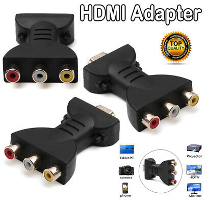 1Pc HDMI To 3 RGB/RCA Video Audio Adapter Digital Signal AV Component Converter