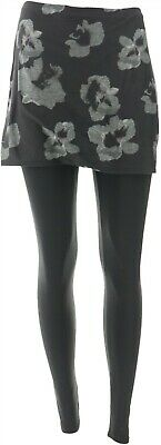 Legacy Brushed Jersey Skirted Legging Spaced Floral L NEW A342925
