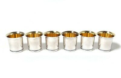 Silver​ vodka cups (shot cups), 6 pcs. Sweden, Tenn & Silver, year 1970