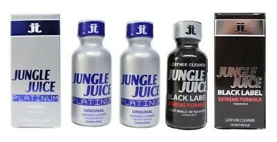 3 PACK of LEATHER CLEANER - JUNGLE JUICE 30ml (2 x Platinum + 1 x Black Label)