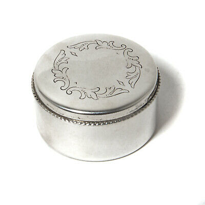 A small silver pill box or trinket box. Sweden, Markstroms Guldsmeds MGAB, 1973