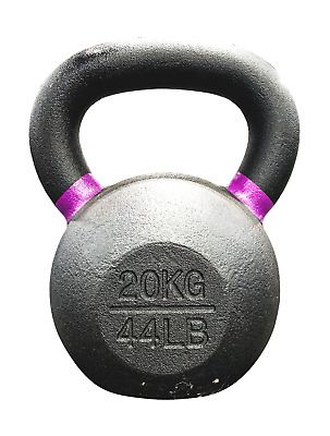 Strencor EKG Kettlebell Black Cast Iron Color-Coded - 20 kg (44 lbs)