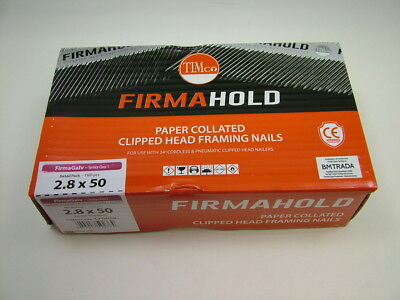1st fix collated nails 50mm x2.8 box 1100 Firmahold brand galvanised fit Paslode