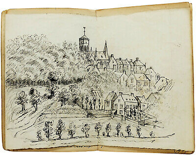 1867 - Travels to the Continent - MANUSCRIPT DIARY - DRAWINGS - Lucerne - Vire