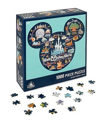 New - Walt Disney World - Mickey Mouse Icon Map Puzzle - 1000 Piece