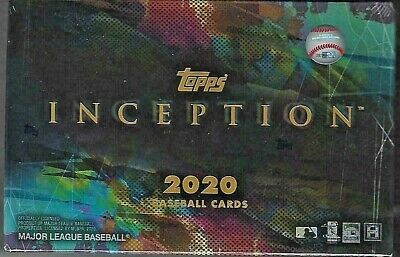 2020 Topps Inception Baseball Factory Sealed Hobby Box 1 Autograph Per Box