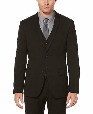 Perry Ellis Mens Blazer Black Size 40 Slim Fit Notched Two Button $185 #353