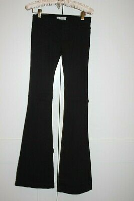 Junior's Free People Black Pull On Denim Flare Jeans Cotton Spandex Size W 25