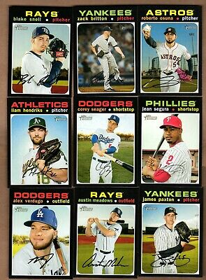 2020 Topps Heritage Baseball - Lot of (11) High Number SP cards - Snell, Verdugo