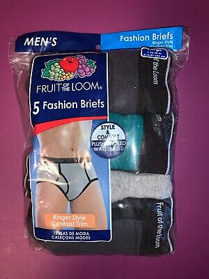 Mens Fruit Of The Loom Fashion Briefs Large Underwear 4 Pair Opened Pack Vintage