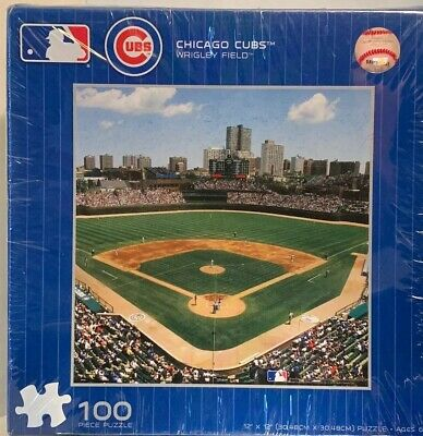 Chicago Cubs Wrigley Field MLB Baseball Sports Fan Activity 100 pc Jigsaw Puzzle