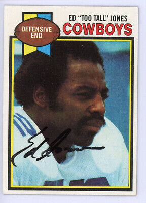 """Ed """"Too Tall"""" Jones Autographed Signed 1979 Topps Card #24 Dallas Cowboys 134511"""