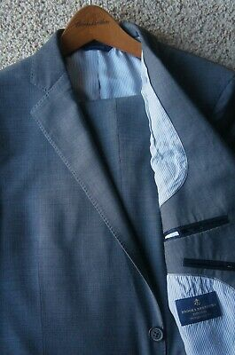 *Current* Brooks Brothers Gray Explorer Fitzgerald 2 Button Wool Suit 42 S