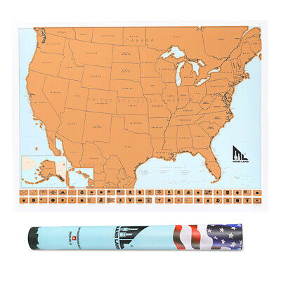 Scratch Off Map United States - USA Scratch Travel Map - US Landmarks Adventures