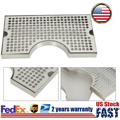 Drip Tap Draft Beer Tray Stainless Steel Removable Kegerator Without Drain Hole