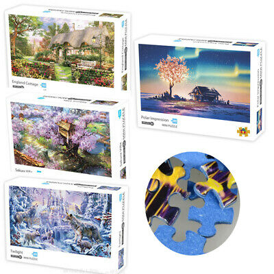 UK Jigsaw Puzzle 1000 Piece DIY Landscapes Jigsaw Decompression Game Toy Gifts