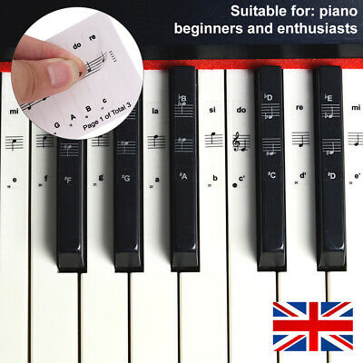 Universal Music Keyboard or Piano Stickers laminated stickers