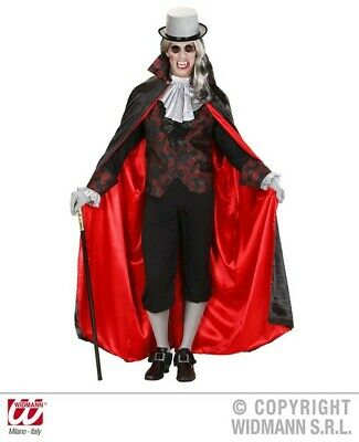 Mens Traditional Vampire Halloween Dracula Fancy Dress Costume Outfit XS-XXL