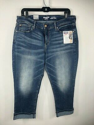 Denizen Levis Womens Mid Rise Modern Skinny Cropped Jeans Size 18 (A11-22)