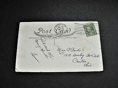 A Merry Christmas - Ben Franklin One Cent  Stamp -1928  Postcard. RARE.