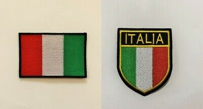 Italy National Flag With Name  Embroidered Iron On Sew On Patch Badge
