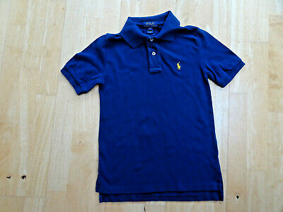 RALPH LAUREN POLO boys navy blue designer t shirt AGE 8 YEARS AUTHENTIC