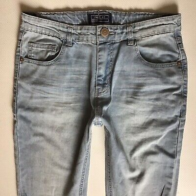 Boys Next Skinny Faded & Ripped Blue Jeans Size 13 Years (431)