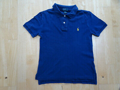 RALPH LAUREN POLO boys navy blue polo t shirt top AGE 8 YEARS EXCELLENT COND