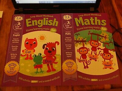 Leap Ahead 3-4 Years MATHS & ENGLISH Workbook Expert Paperback 2019 PRESCHOOL