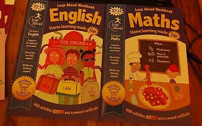 Leap Ahead 10-11 Years MATHS & ENGLISH Workbook Paperback 2019 NEW KEY STAGE 2