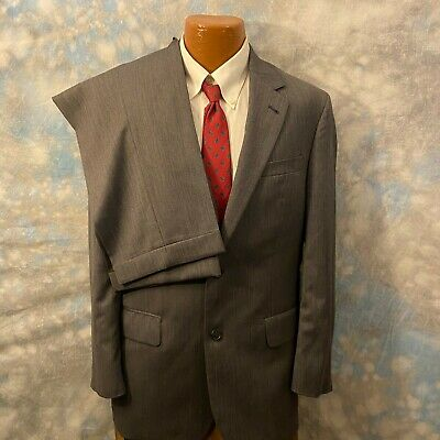 Jos. A. Bank 40 R Gray Wool Two Button 2 Pc Men's Suit