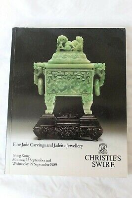 Christies Catalogue Fine Jade Carvings & Jadeite Jewellery Hk Sept89 Chinese Int