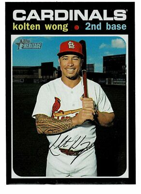 2020 Topps Heritage Kolten Wong French Text Back Variation (ST)