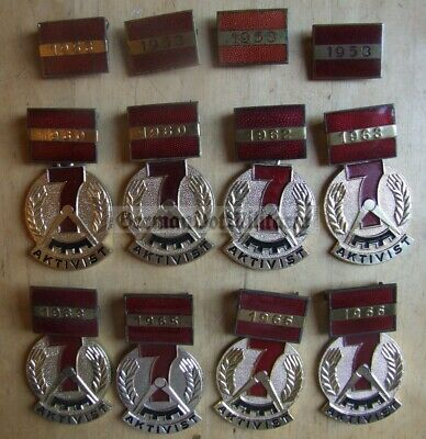 lc43) c1950's & 1960's dated East German GDR DDR Medal enamel award collection